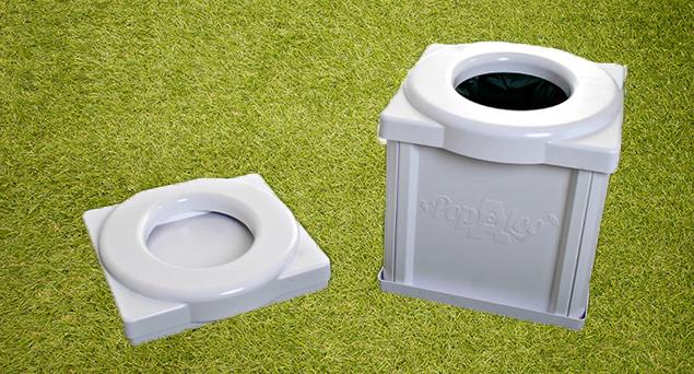 Portable Camping Toilet : Popaloo portable toilets unique compact & eco friendly