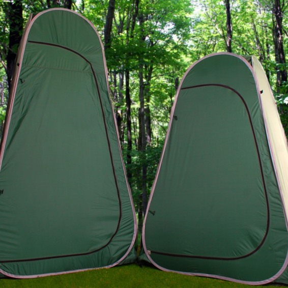 both tents & Private Convenience Pack | Toilet Tent of Your Choice