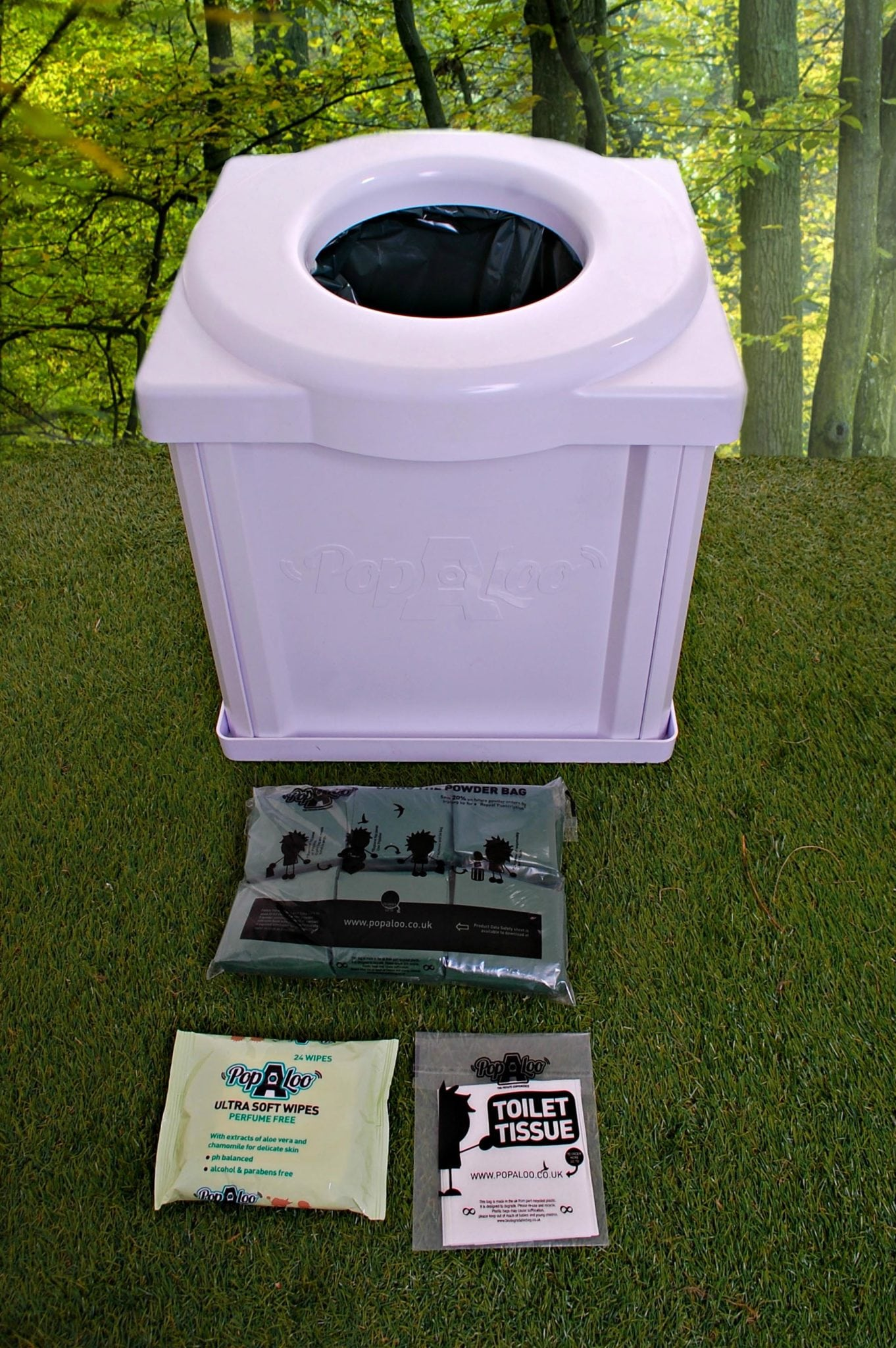 popaloo portable camping toilet with all the essentials. Black Bedroom Furniture Sets. Home Design Ideas